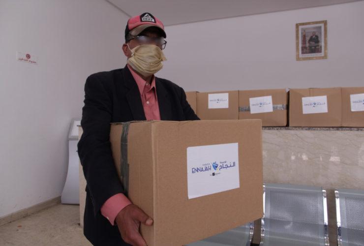 Colis d'association humanitaire au Maroc