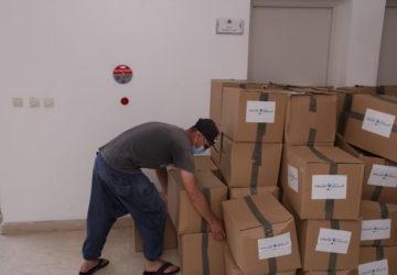 Photo action humanitaire liée à la Covid 19