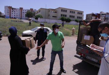 Photo de l'opération covid 19 de la Fondation Ennajah