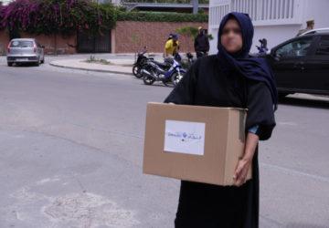 Photo distribution de nourriture au Maroc