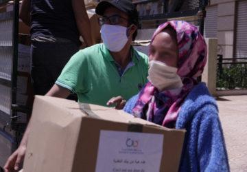 Photo action de solidarité pendant le covid